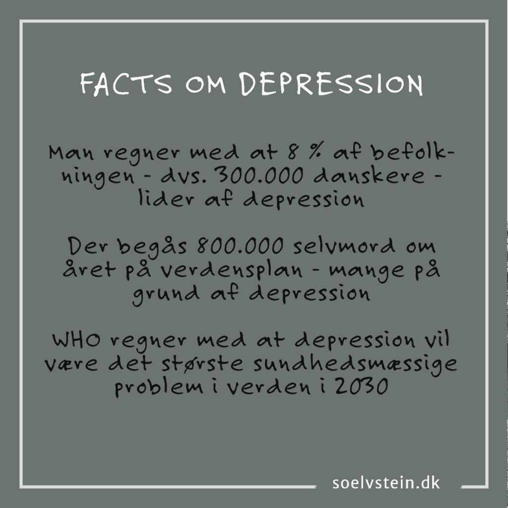 Depression er et stort problem både i Danmark og globalt
