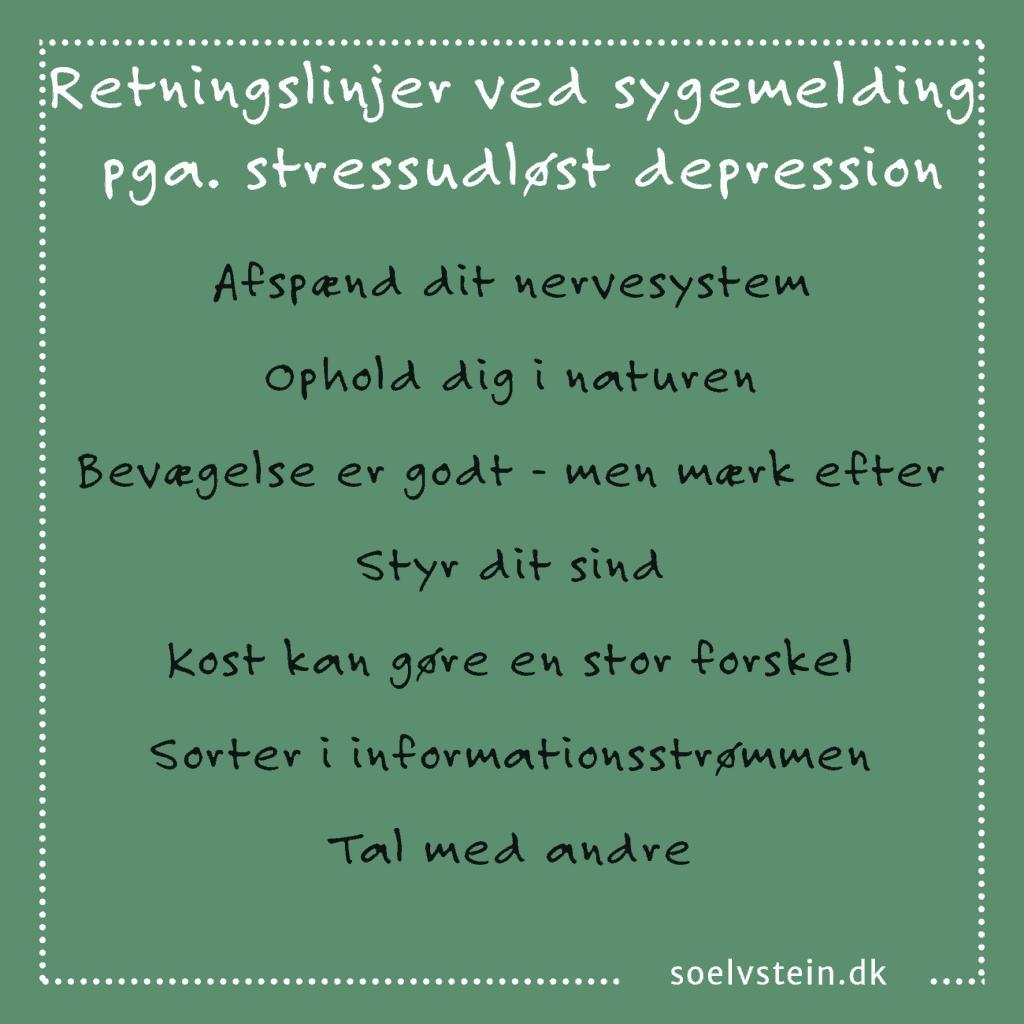 behandling af stress angst og depression uden medicin