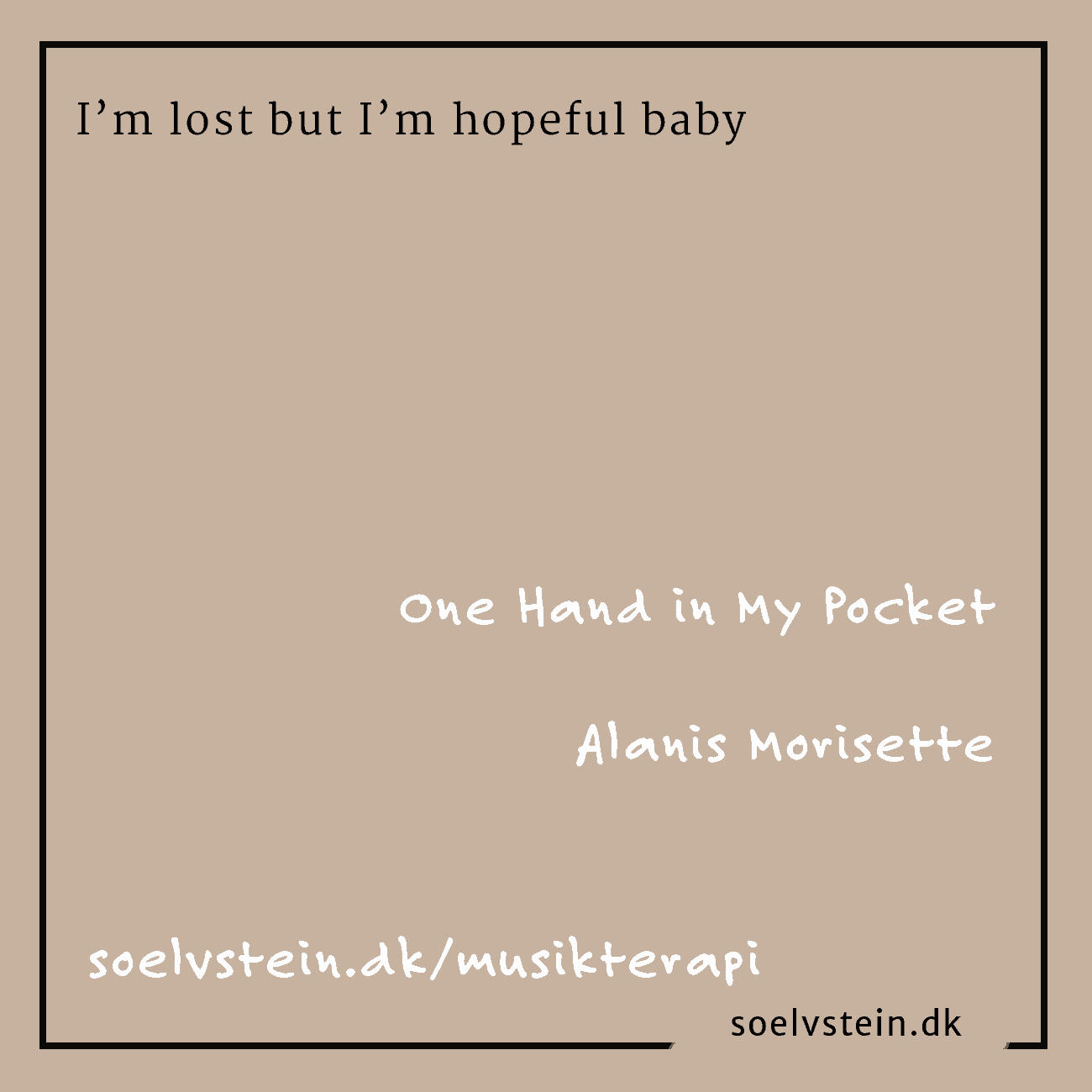 One Hand in My Pocket. Alanis Morisettes