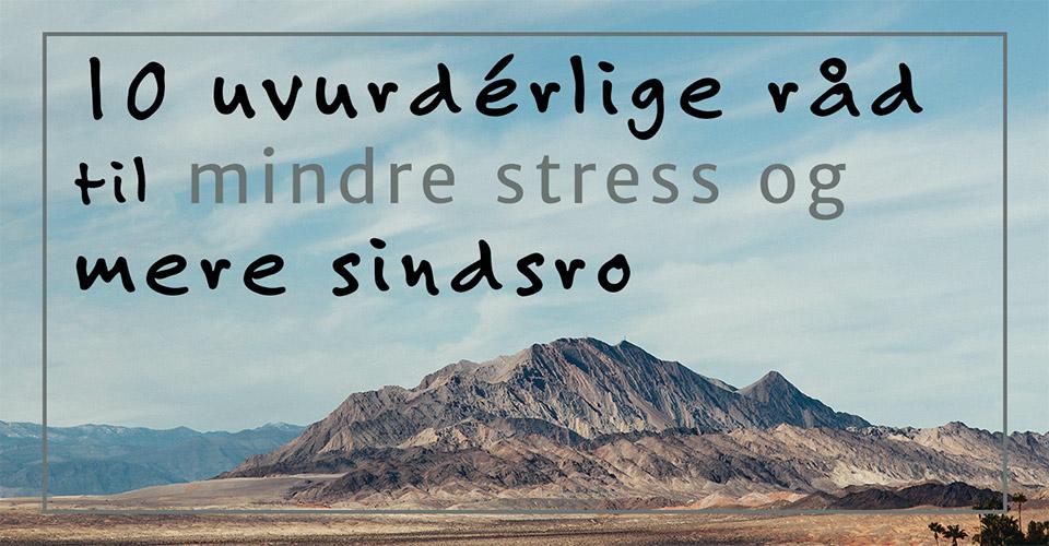 10 uvurdérlige råd der giver mindre stress og mere sindsro