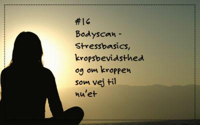 # 16 Bodyscan. Stressbasics I om kropsbevidsthed og om kroppen som vej til nu'et
