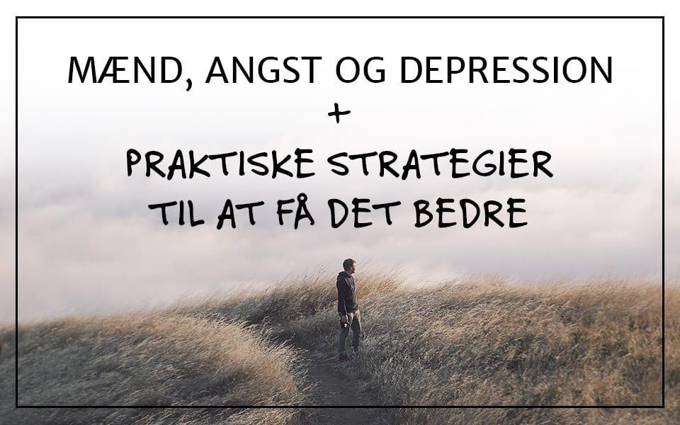 depression mænd pårørende