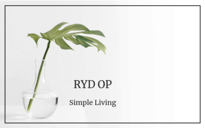 #56 Simple living: Ryd op!